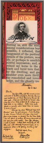 Edgar Allan Poe Text Fragment Bookmark