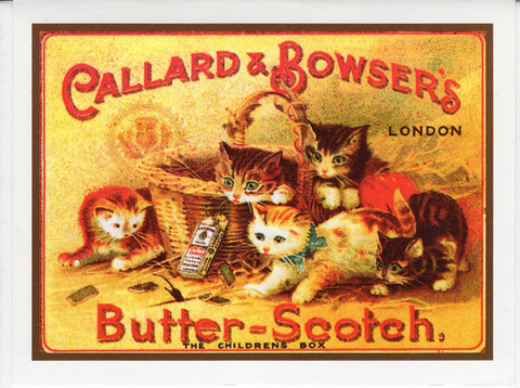 """Butter~Scotch"" London Cat Card"