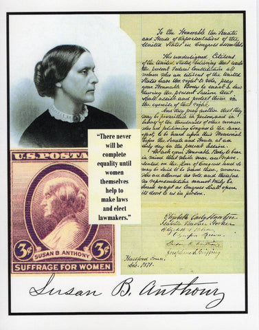 "Susan B. Anthony ""Lawmakers"" Collage Note Card"