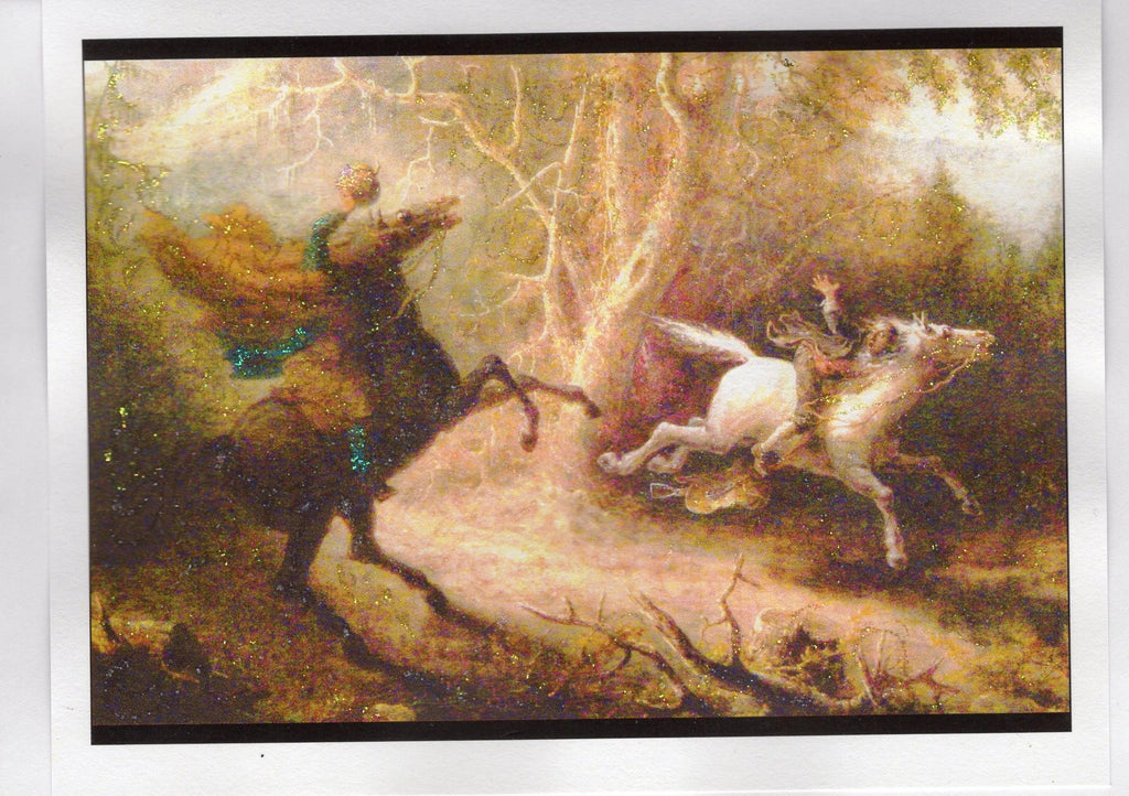 Legend of Sleepy Hollow Glitter Card