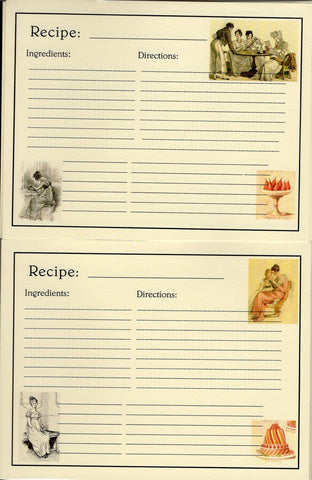Recipe Cards Package ~ Jane Austen
