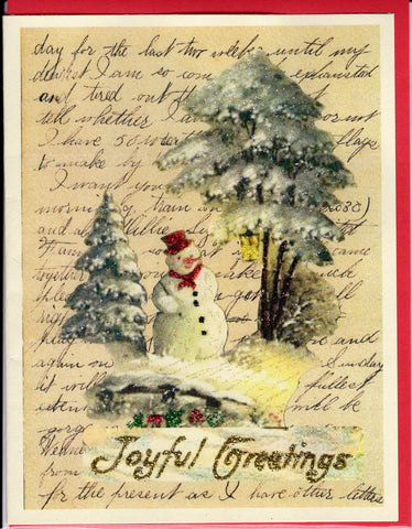 """Dear Rose...December 1888"" Assorted Christmas Glitter Card"