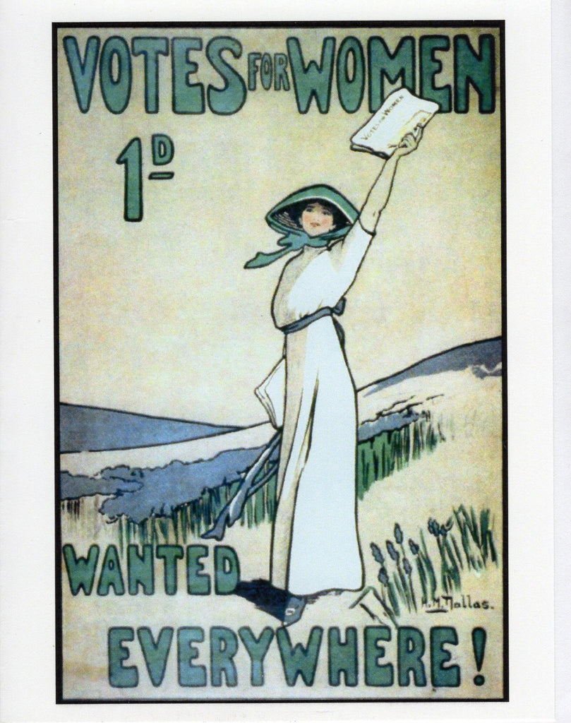 Votes for Women Wanted Everywhere Note Card