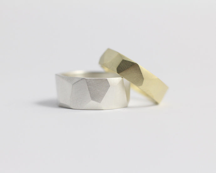 Asymmetrical Facets Ring