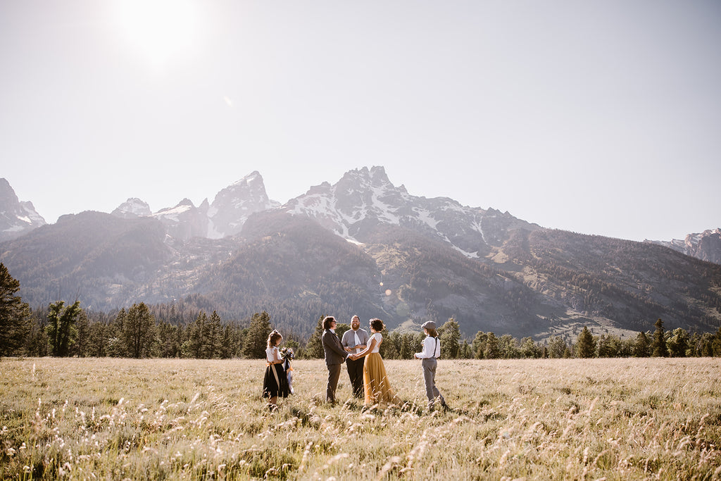 Grand Teton Elopement Photo