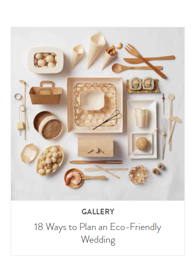 Martha Stewart Weddings Eco Friendly wedding guide