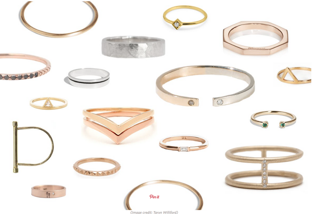 Apartment Therapy Minimal Wedding bands