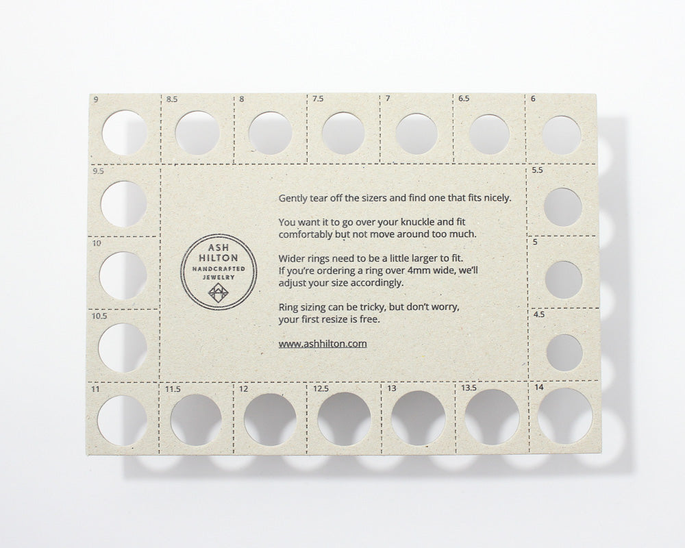 FREE RING SIZER, [product_type} - Ash Hilton Jewellery