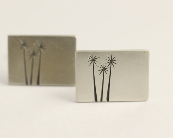 Cabbage Tree Trio Cufflinks