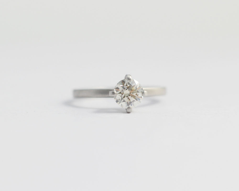 Solitaire Diamond Engagement Ring with 4 Claw set Ethical Diamond