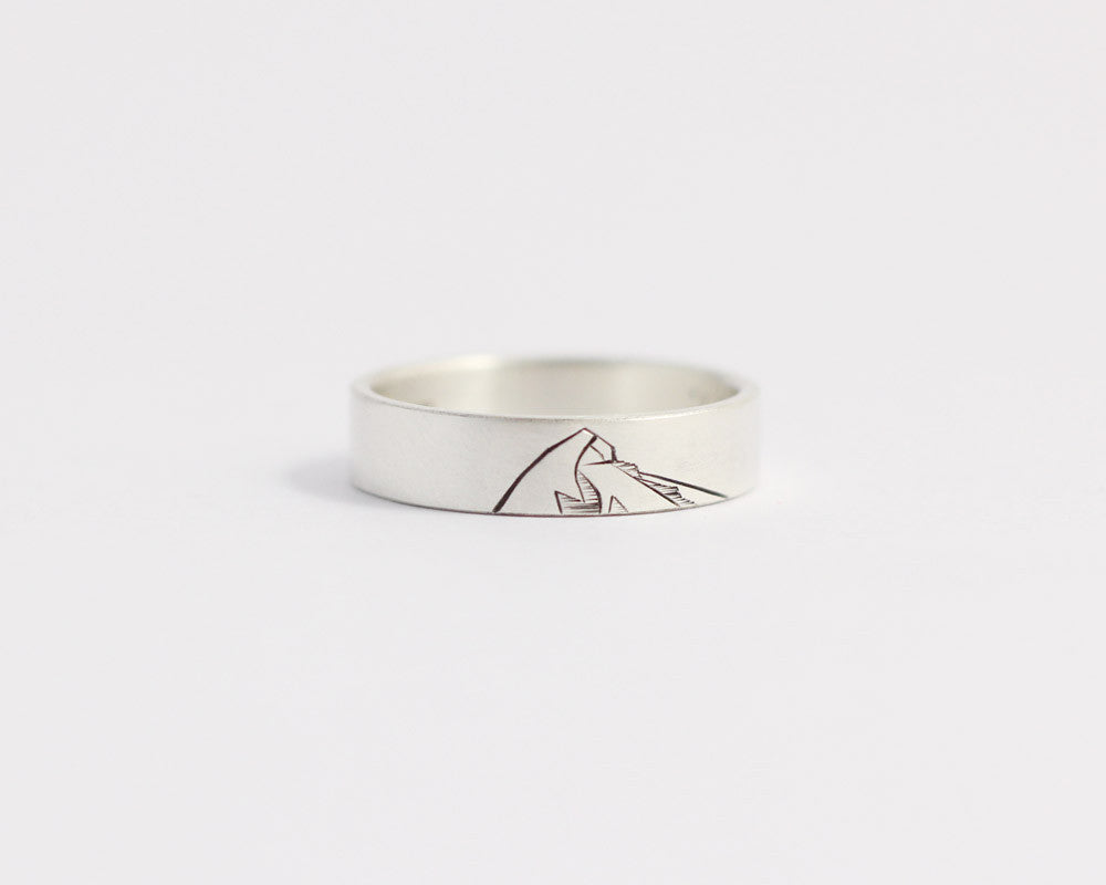 Mountain Ring in Rose Gold - Medium, [product_type} - Ash Hilton Jewellery
