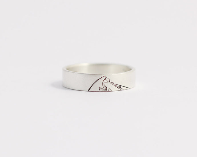 Mountain Ring in Yellow Gold - Medium, [product_type} - Ash Hilton Jewellery