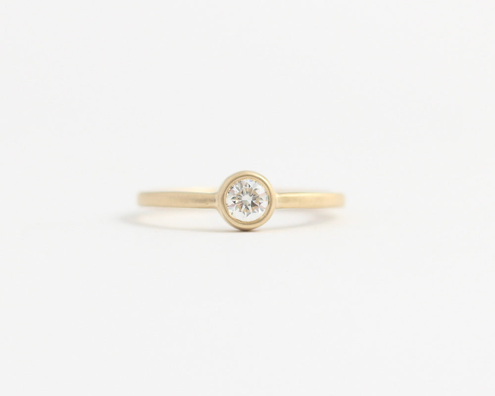 Ethical Bezel Set Diamond Ring Yellow Gold, [product_type} - Ash Hilton Jewellery