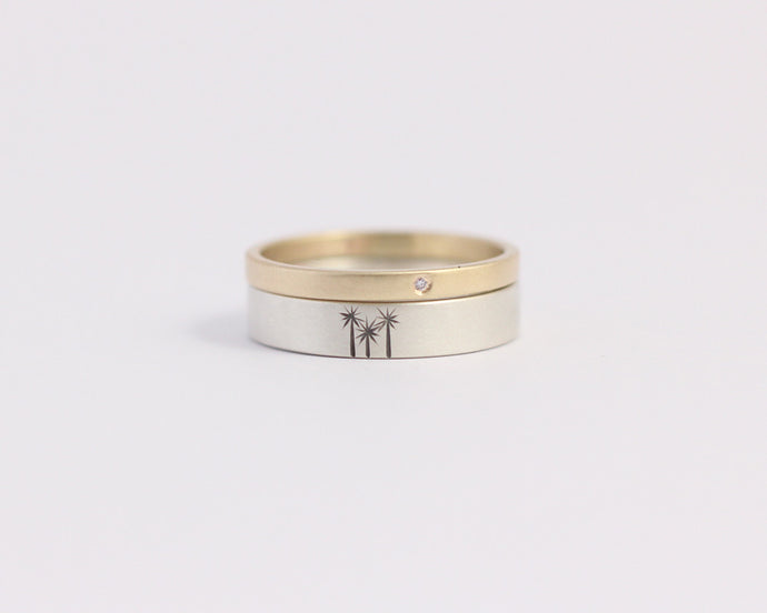 Cabbage Tree Engagement Set, [product_type} - Ash Hilton Jewellery