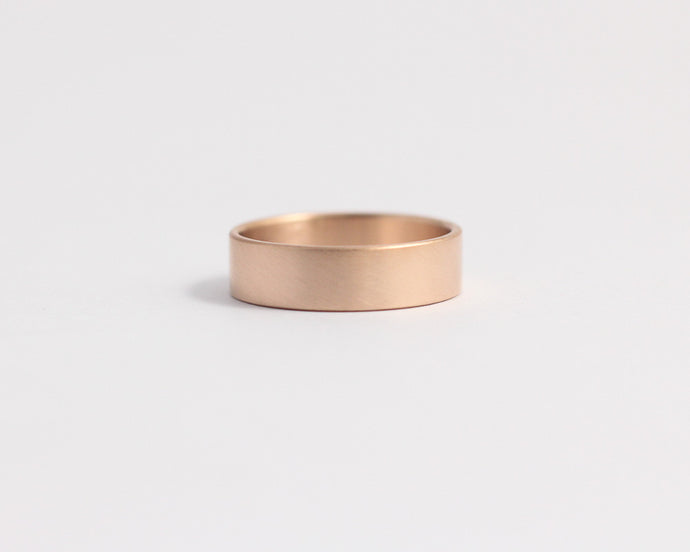 Ethical Rose Beach Gold Band - Medium, [product_type} - Ash Hilton Jewellery