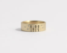 Snow on Pines Ring in Yellow Gold, [product_type} - Ash Hilton Jewellery
