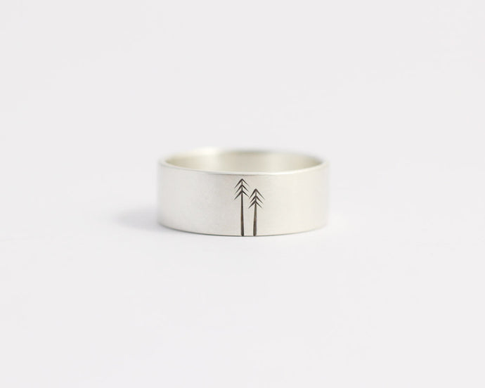 Woodland Ring - Wide, [product_type} - Ash Hilton Jewellery