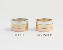 Ethical White Beach Gold Band - Narrow, [product_type} - Ash Hilton Jewellery