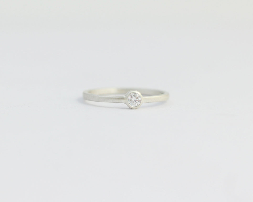 Solitaire Diamond Engagement Ring with Bezel Set Ethical Diamond, [product_type} - Ash Hilton Jewellery