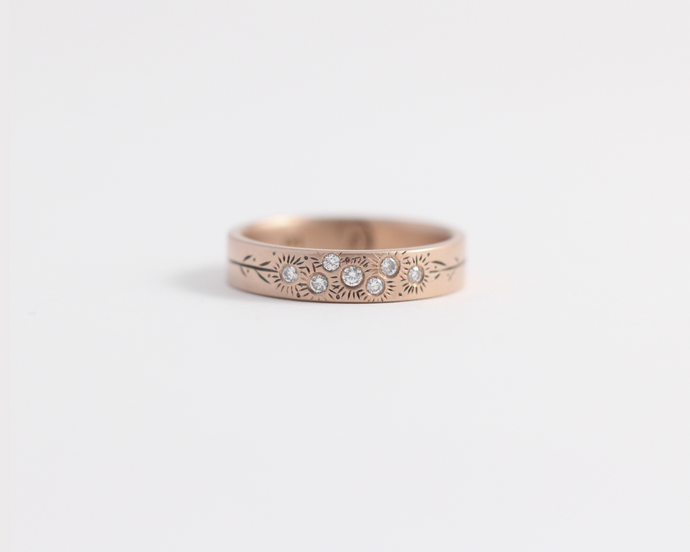Bouquet Ring in Rose Gold - Medium, [product_type} - Ash Hilton Jewellery