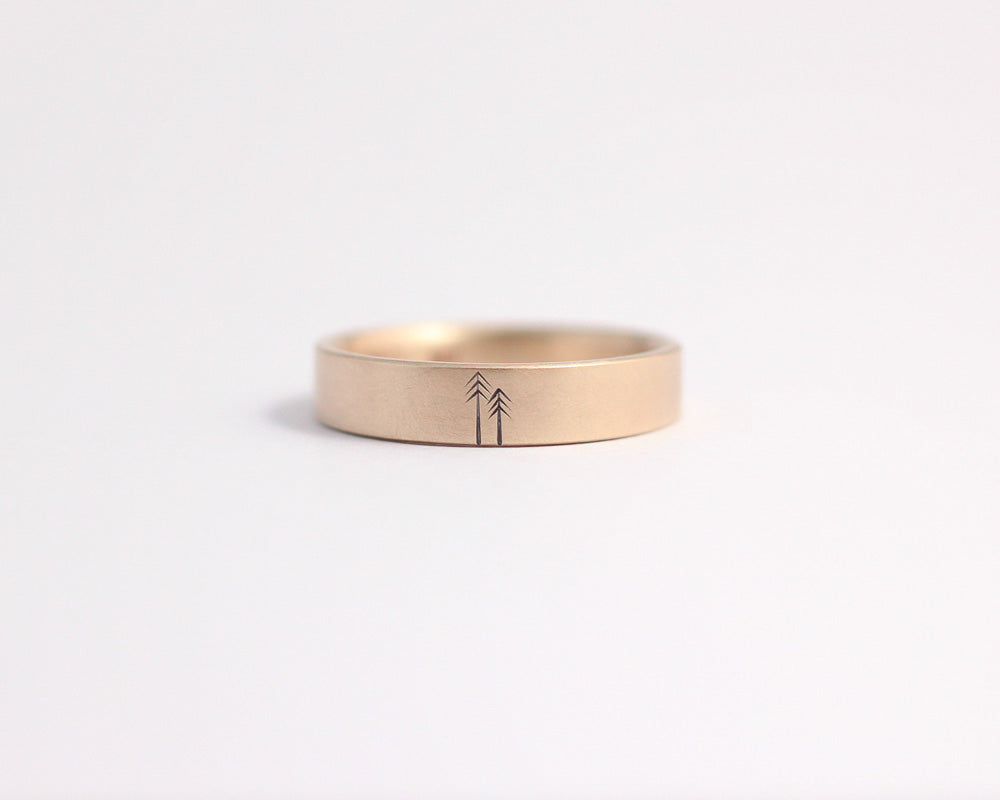 Woodland Ring in Rose Gold - Medium, [product_type} - Ash Hilton Jewellery