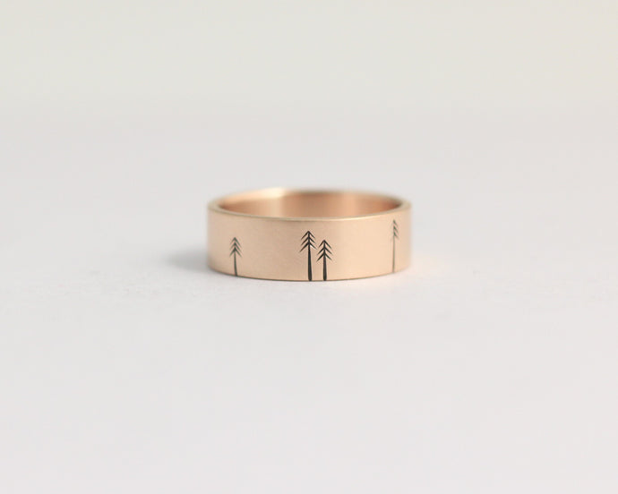Pine Forest Ring in Rose Gold - Medium, [product_type} - Ash Hilton Jewellery