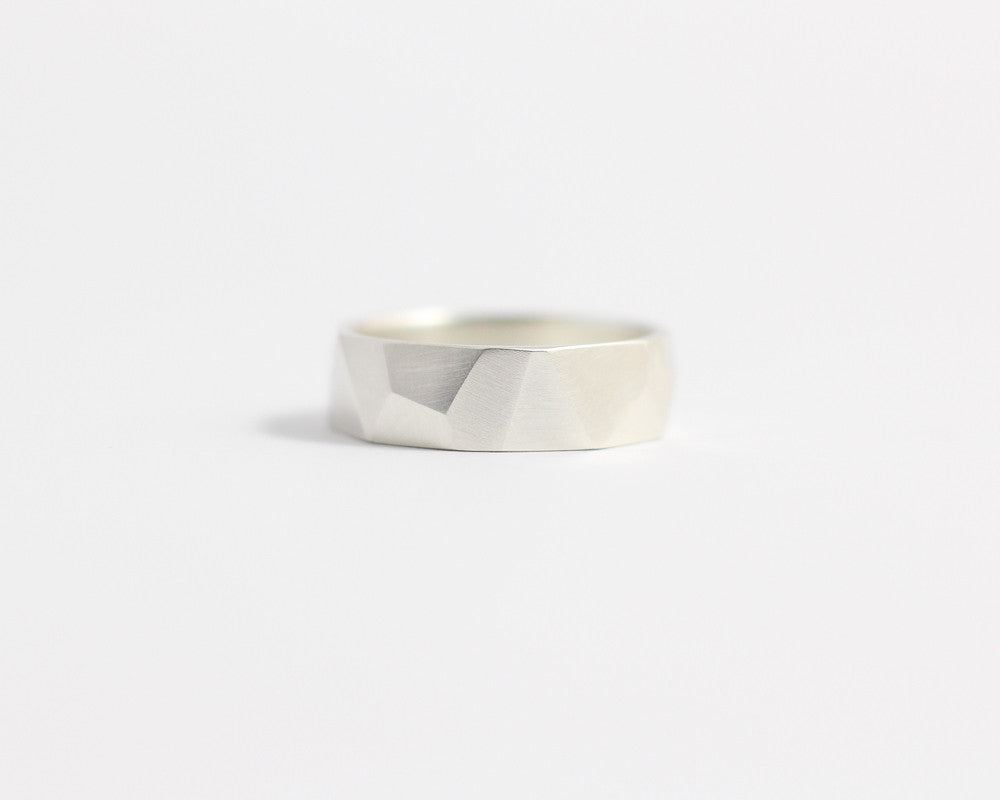 Asymmetrical Facets Ring - Medium