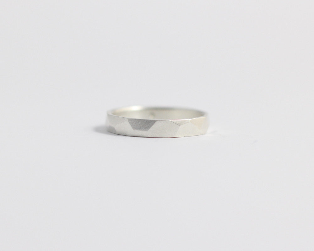Asymmetrical Facets Ring - Narrow