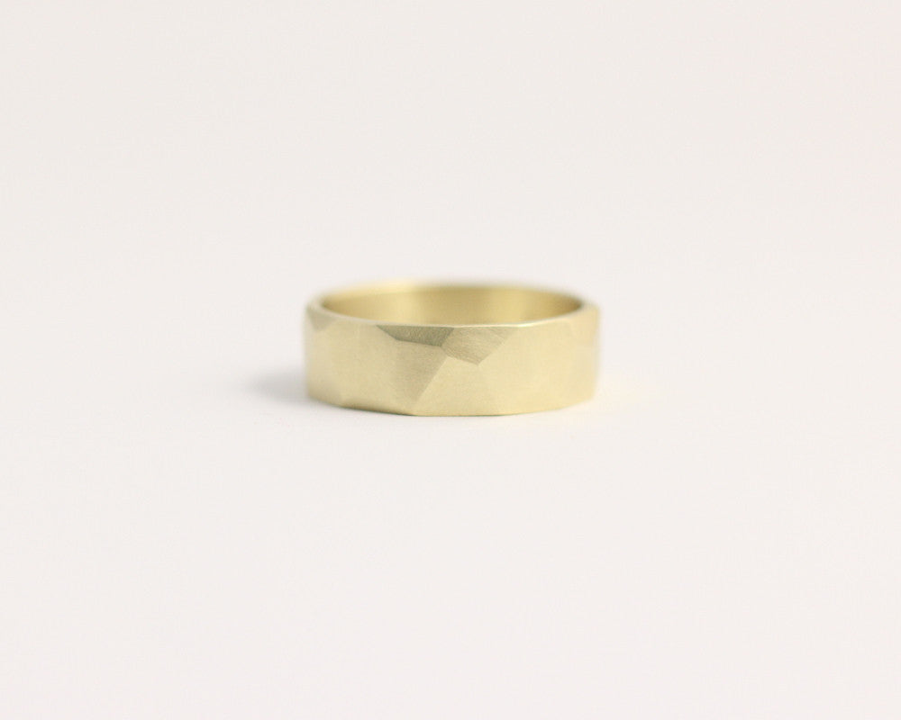 Asymmetrical Facets Ring - Yellow Gold