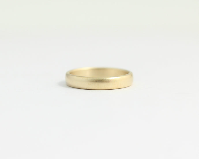 Rounded Ethical Yellow Beach Gold Band - Narrow, [product_type} - Ash Hilton Jewellery