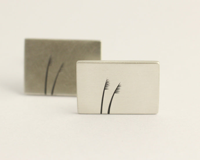 Toetoe Cufflinks, [product_type} - Ash Hilton Jewellery