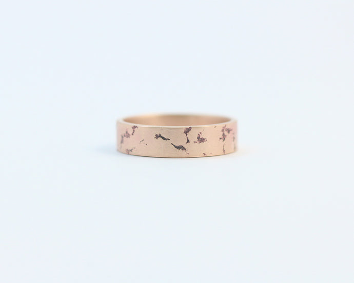 Distressed Ring in Rose Gold - Medium, [product_type} - Ash Hilton Jewellery