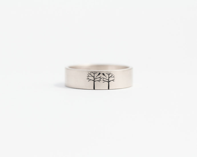 Birds in Trees Ring - Medium, [product_type} - Ash Hilton Jewellery