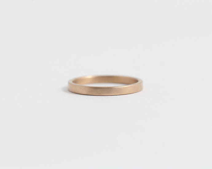 Ethical Rose Beach Gold Band - Narrow, [product_type} - Ash Hilton Jewellery