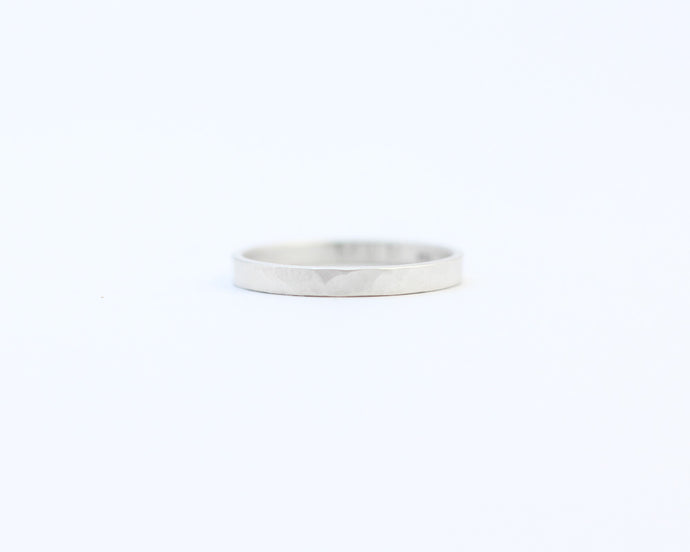 Hammered Ring - Narrow, [product_type} - Ash Hilton Jewellery