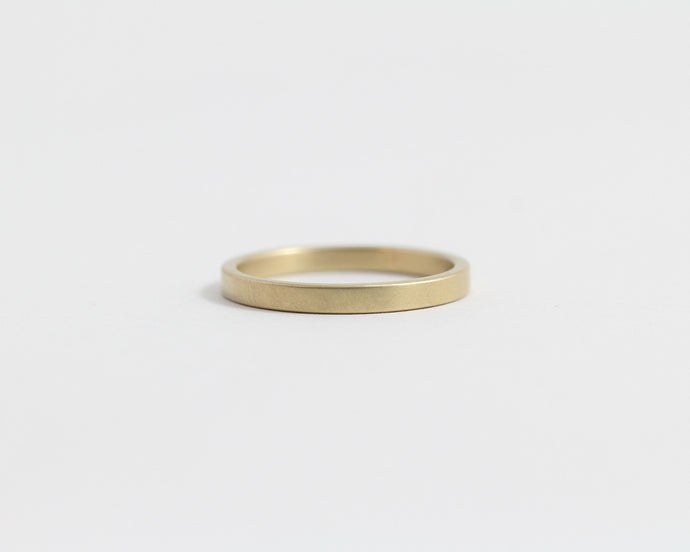 Ethical Yellow Beach Gold Band - Narrow, [product_type} - Ash Hilton Jewellery