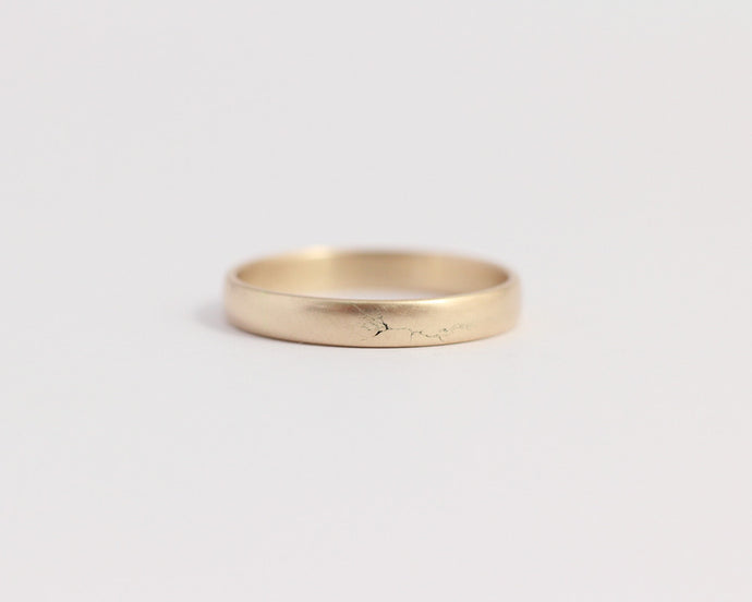 Rounded Ethical Yellow Gold Band - Narrow