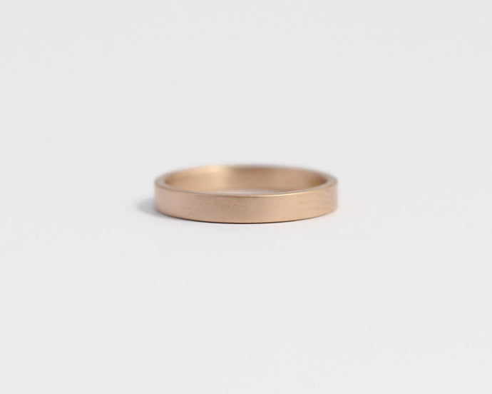 Ethical Rose Gold Band - Narrow