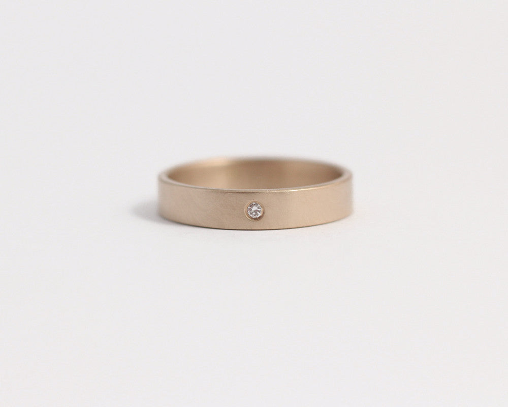 Ethical Rose Gold/Recycled Diamond Ring - 3mm