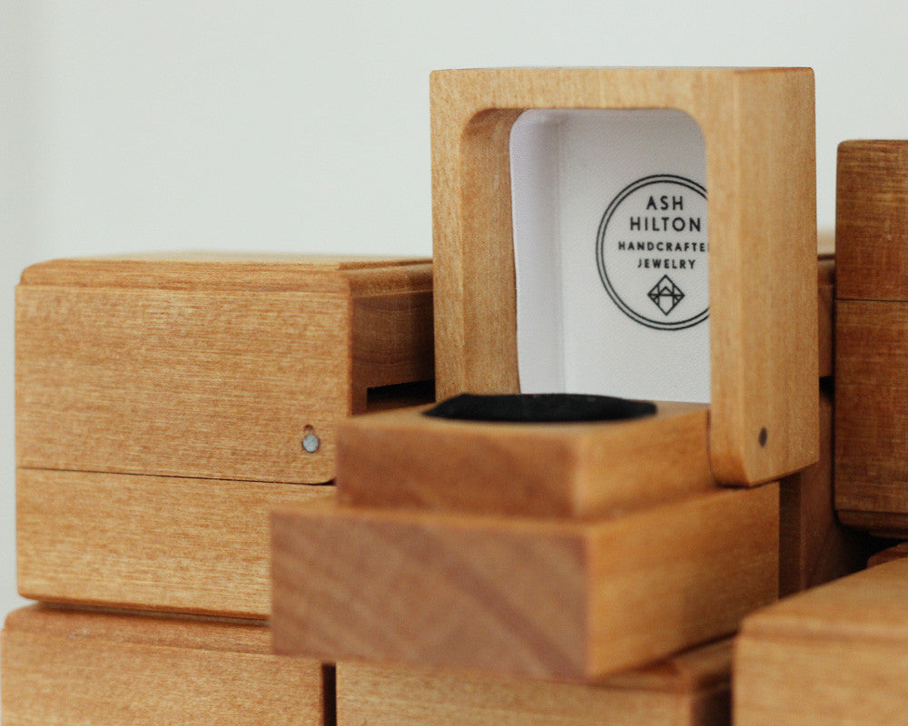 Handmade Wooden Ring Box, [product_type} - Ash Hilton Jewellery