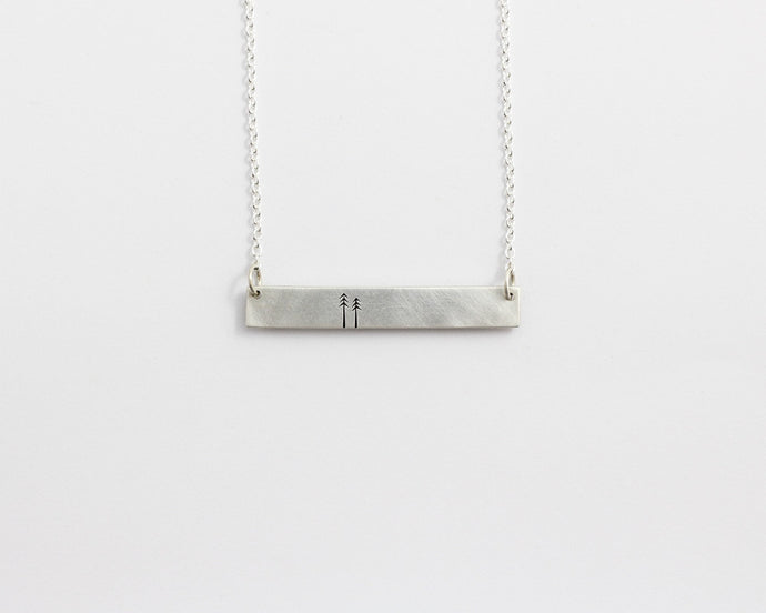 Woodland Bar Necklace, [product_type} - Ash Hilton Jewellery