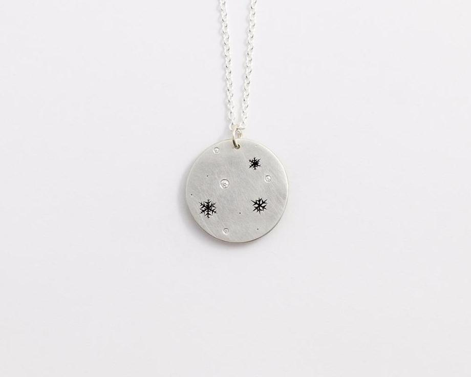 Round Snowflakes Necklace - Medium, [product_type} - Ash Hilton Jewellery