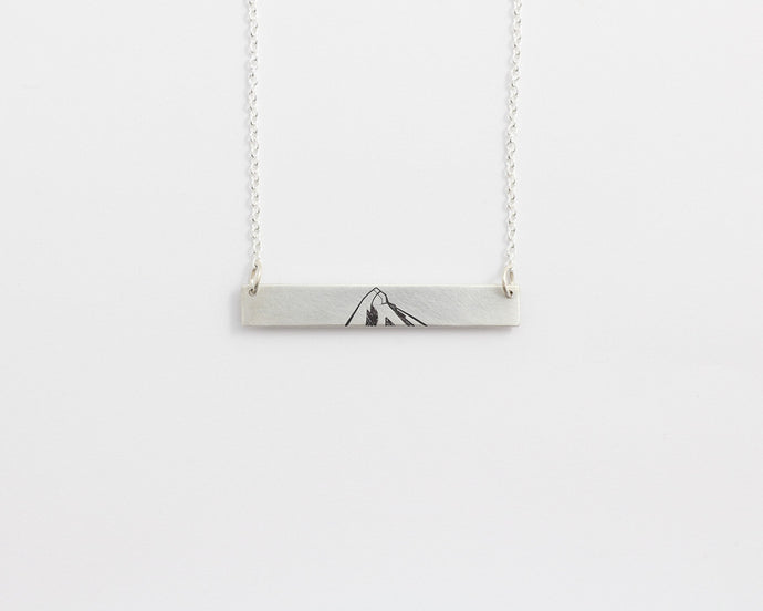 Mountain Bar Necklace, [product_type} - Ash Hilton Jewellery