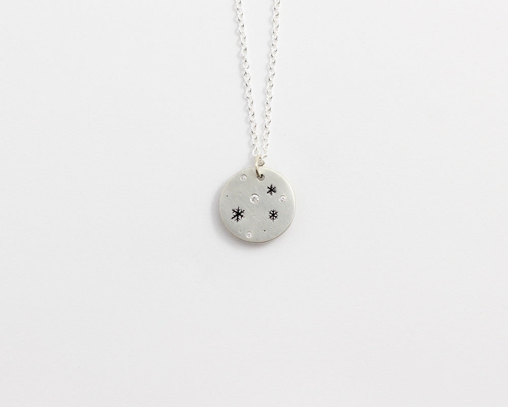 Round Snowflakes Necklace - Small, [product_type} - Ash Hilton Jewellery