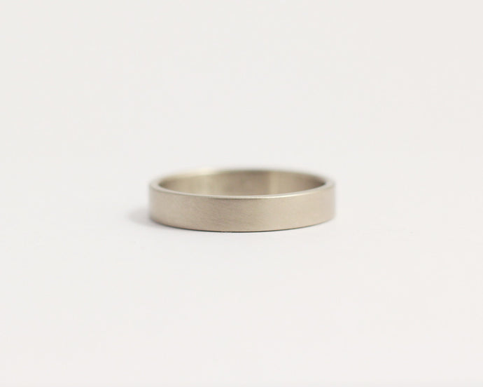Ethical White Gold Band - Narrow
