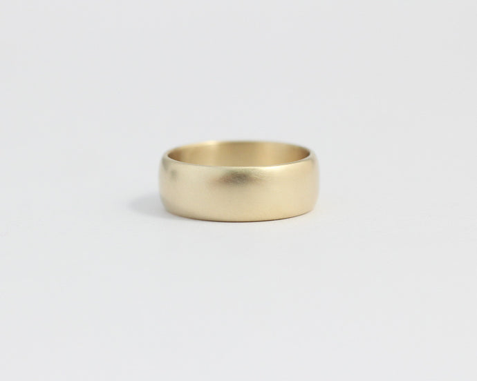 Rounded Ethical Yellow Gold Band - Wide