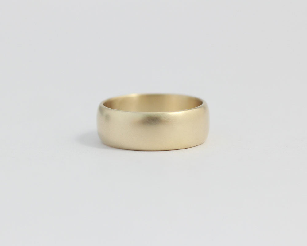 Wide Rounded Ethical Yellow Gold Band