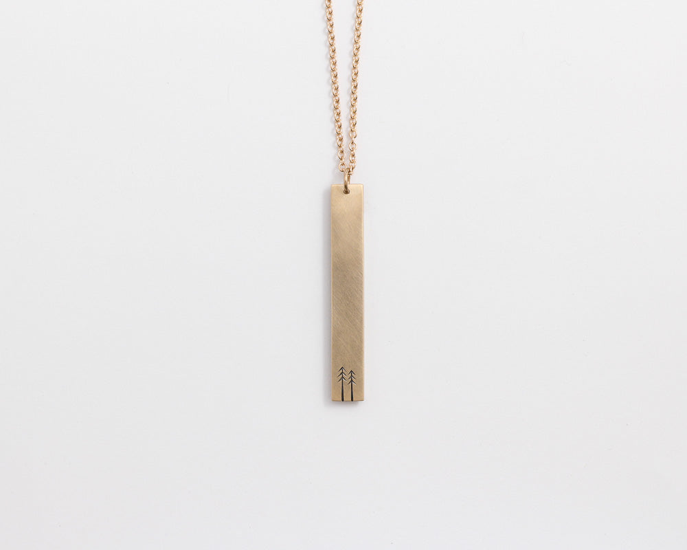 Woodland Drop Necklace in Yellow Gold, [product_type} - Ash Hilton Jewellery