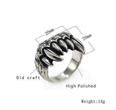 Animal Teeth Ring - TheNineOneOne