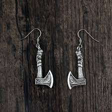 Viking Axe Silver Earring